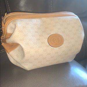 Handbags - Gucci tootsie roll bag clutch make up cream purse